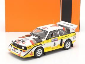 Audi Sport Quattro S1 #4 Lombard RAC Rallye 1985 Röhrl, Short 1:18 Ixo