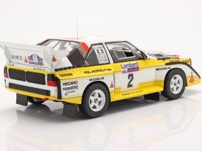 Audi Sport Quattro S1 #2 Lombard RAC Rallye 1985 Mikkola, Hertz