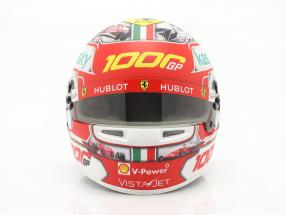 C. Leclerc #16 1000th Ferrari formula 1 GP Tuscany 2020 helmet with showcase 1:2 Bell