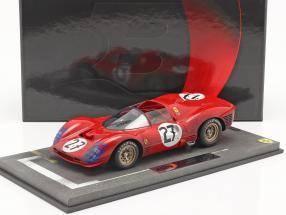 Ferrari 330 P3 Spyder Dirty Version #27 24h LeMans 1966 1:18 BBR