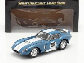 Shelby Cobra Daytona Coupe #98 Year 1965 blue / white 1:18 ShelbyCollectibles