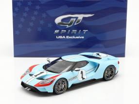 Ford GT Heritage Edition 2020 #1 gulf blue / orange 1:18 GT-Spirit