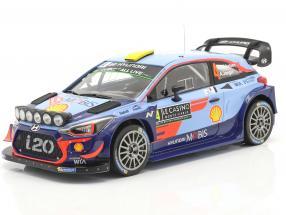 Hyundai i20 WRC #4 Rallye Monte Carlo 2018 Mikkelsen, Jaeger 1:18 Ixo