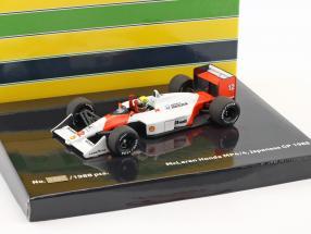 Ayrton Senna McLaren MP4/4 #12 World Champion Japan GP F1 1988 1:43 Minichamps / 2nd choice
