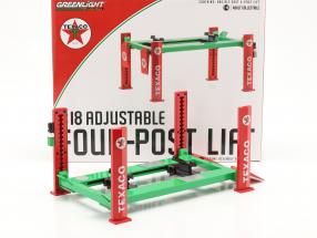 Adjustable four-post Lift Texaco green / red 1:18 Greenlight