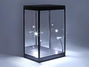 Single showcase with LED lighting and mirror for characters in scale