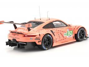 Porsche 911 (991) RSR #92 Class Winner LMGTE 24h LeMans 2018 Pink Pig