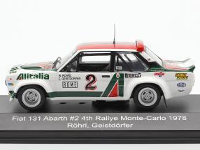 Fiat 131 Abarth #2 4th Rally Monte Carlo 1978 Röhrl, Geistdörfer