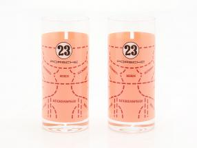 Long drink glasses 2 Pieces Porsche 917 Pink Pig