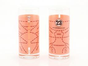 Long drink glasses 2 Pieces Porsche 917 Pink Pig
