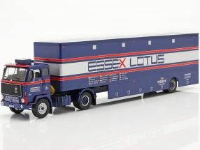 Volvo F89 Race Car Transporter Essex Lotus blue / silver / red 1:43 Ixo