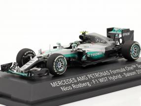 Nico Rosberg Mercedes F1 W07 Hybrid #6 World Champion formula 1 2016 1:43 Minichamps MB