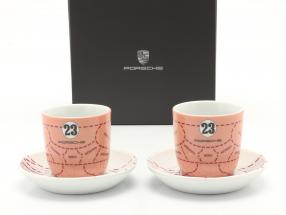 Espresso cups (set of 2) Porsche 917/20 Pink Pig #23