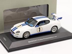 Maserati Trofeo Presentation car white / blue