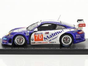 Porsche 911 GT3 RSR #70 Labre 2nd GTE AM class 24h LeMans 2011