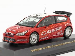 Citroen C4 WRC presentation Test car 2006 red / white 1:43 Ixo