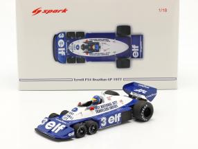 Ronnie Peterson Tyrrell P34 six wheels #3 Brasilien GP Formel 1 1977 1:18 Spark