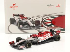 R. Kubica Alfa Romeo Racing C39 #88 Test Barcelona formula 1 2020 1:18 Spark