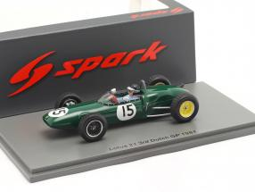Jim Clark Lotus 21 #15 3rd Dutch GP formula 1 1961 1:43 Spark