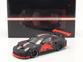 Porsche 911 GT2 RS Clubsport Red Bull 2019 schwarz / rot 1:18 Spark