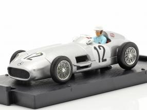 Stirling Moss Mercedes-Benz W196 #12 Winner British GP Formel 1 1955 1:43 Brumm