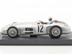 Stirling Moss Mercedes-Benz W196 #12 Winner British GP formula 1 1955