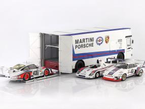 Mercedes-Benz O 317 Race Car Transporter Porsche Martini Racing white