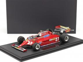 Gilles Villeneuve Ferrari 126CK #27 formula 1 1981 with showcase