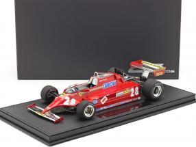 Didier Pironi Ferrari 126CK #28 Formel 1 1981 mit Vitrine 1:18 GP Replicas