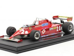 Didier Pironi Ferrari 126CK #28 formula 1 1981 with showcase