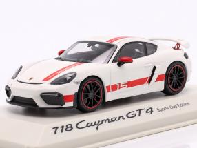 Porsche 718 Cayman GT4 Sports Cup Edition white / red 1:43 Minichamps