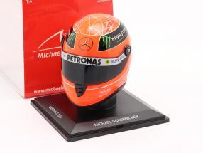 M. Schumacher Mercedes W03 Last Race Sao Paulo formula 1 2012 helmet 1:4 Schuberth