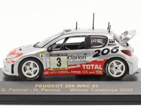 Peugeot 206 WRC #3 winner rally Catalunya 2002 Panizzi, Panizzi
