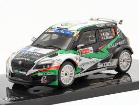 Skoda Fabia S2000 #3 winner rally Ypres 2014 Loix, Gitsels 1:43 Ixo