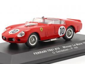 Ferrari TRI/61 #10 Winner 24h LeMans 1961 Gendebien, Hill 1:43 Ixo