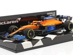 Carlos Sainz jr. McLaren MCL35 #55 Launch Spec formula 1 2020 1:43 Minichamps