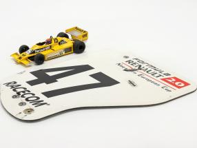 Original rear wing end plate #47 formula Renault 2.0 / ca. 36 x 47 cm