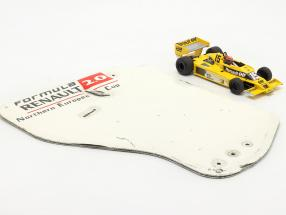 Original rear wing end plate formula Renault 2.0 / ca. 36 x 47 cm