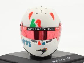 Lando Norris McLaren F1 Team #4 5th British GP formula 1 2020 helmet 1:5 Spark