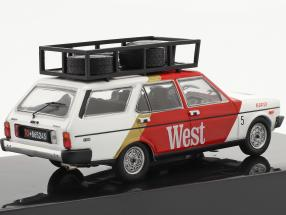 Fiat 131 Panorama Rallye Assistance Tre Gazzelle 1977 red / White