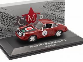 Porsche 911 S #7 Bavaria Rallye 1970 Röhrl, Marecek 1:43 CMR