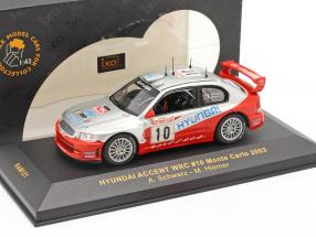 Hyundai Accent WRC #10 rally Monte Carlo 2003 Schwarz, Hiemer 1:43 Ixo / 2nd choice