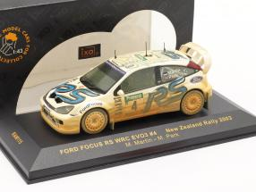 Ford Focus RS WRC EVO3 Dirty version #4 rally New Zealand 2003 Martin, Park 1:43 Ixo