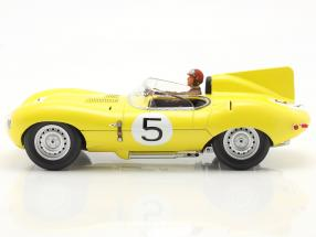 Set: Jaguar D-Type #5 4th 24h LeMans 1956 with driver figure