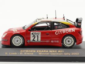 Citroen Xsara WRC #21 winner rally Germany 2002 Loeb, Elena