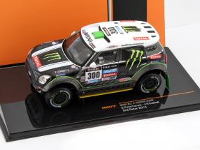 Mini All 4 Racing #300 2nd rally Dakar 2014 Peterhansel, Cottret 1:43 Ixo / 2nd choice