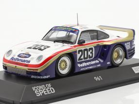 Porsche 961 #203 24h LeMans 1987 Haldi, Nierop, Metge 1:43 Spark
