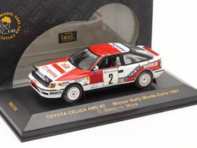 Toyota Celica 4WD #2 winner rally Monte Carlo 1991 Sainz, Moya 1:43 Ixo