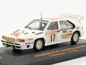Citroen BX 4TC #17 rally Monte Carlo 1986 Wambergue, Vieu 1:43 Ixo