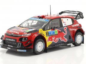Citroen C3 WRC #1 Winner Rally Mexico 2019 Ogier, Ingrassia 1:24 Ixo